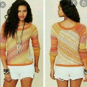 Free People Ombré Diagonal Sweater